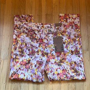Coldwater Creek floral burst jeans